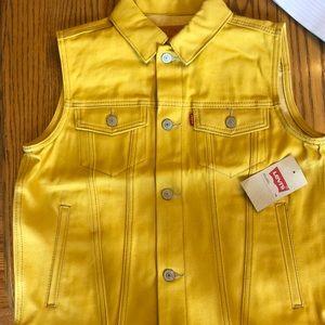 Yellow Levi's vest